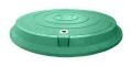 Люк с замком 3 т канализационный полимерпесчаный легкий А15 зеленый