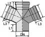 Крестовина одноплоскостная 67°