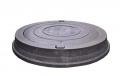 Канализационный люк 25 т полимерпесчаный тяжелый серый С250