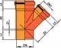 Тройник 45° для внешней канализации